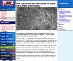 Article du site 7sur7.be sur le vole d'objets stellaire de la NASA